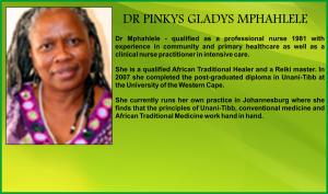 DR PINKYS GLADYS MPHAHLELE