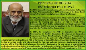 Prof Rashid Bhikha